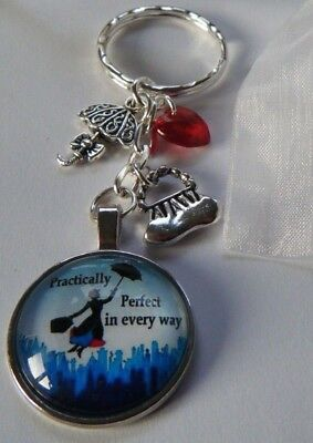 MARY POPPINS KEYRING GIFT PRACTICALLY PERFECT IN EVERY WAY in a gift bag