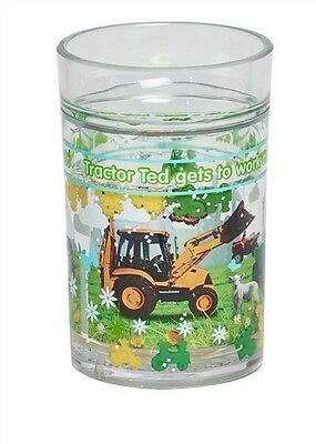 New Official, Original Tractor Ted Glitter Glass Cup Glitter Beaker Farm Toy Cup