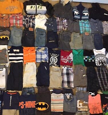 Huge 68 Pc. Lot of Boys Clothes Sz 4 4t 5 & 5t; Polo Levi's Gap Old Navy CK Nike