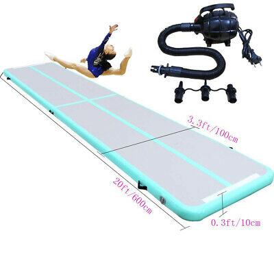 20ft Inflatable Gymnastics Air Track Tumbling Mat Airtrack Mats for Home Use