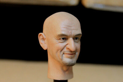 """1/6 Scale Male Head Carved Ben Kingsley Head Sculpt For 12"""" Action Figure Body"""