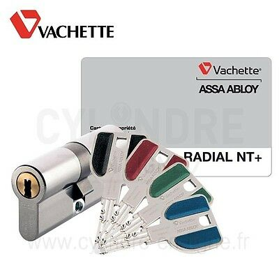 cylindre vachette double radial nt+ 32,5x32,5  assa abloy