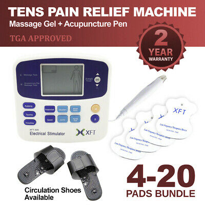 Electrical Physio Tens Machine XFT-320A Massager Tens/Back Pain/4 PADS ARTG