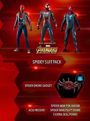 (PS4) Marvel's Spider-Man - DLC Pack (Spidey Suit Pack, Avatar, Theme & More)