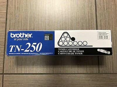 Genuine Sealed Brother TN-250 Black Toner Cartridge Original OEM Genuine New
