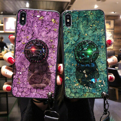 Diamond Stand Airbag Bracket Luxury Case Cover For Samsung galaxy S8 S9 Plus