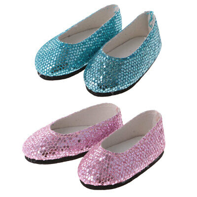 Fashion Party Sequins Shoes for AG American Doll 14'' Doll Dress Up Accessory