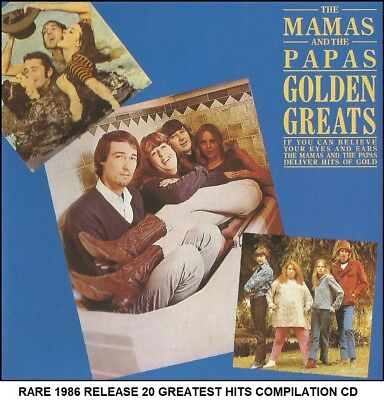 The Mamas & The Papas Very Best 20 Greatest Hits Collection CD 60's (Mama Cass)