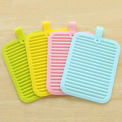 Kitchen Tool Non-slip Insulation Silicone Mat Pot Tray Placemat Heat Resistant