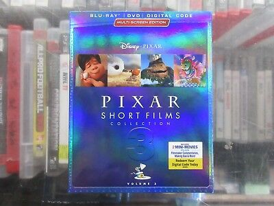 BRAND NEW Pixar Short Films Collection 3 ( Blu Ray + DVD + Digital)
