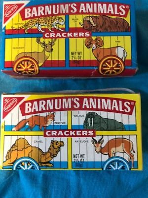 Two  Nabisco Barnum's Animal Crackers Boxes