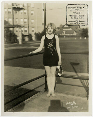 Vintage 1920s Swim-Easy Swimsuits Bathing Beauty Pin-Up Advertising Photograph