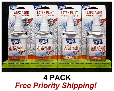 4 PACK Latex Paint Remover Water Based Biodegradable Eco Friendly Lift Off 4.5oz