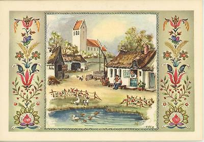 Vintage House Garden Danish Apple Pudding Recipe Print 1 Tomato Garden Art Card