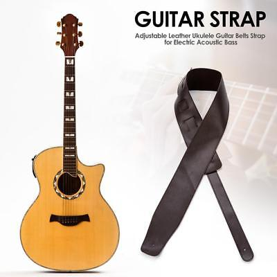 Adjustable Leather Ukulele Guitar Belts Strap for Electric Acoustic Bass Access