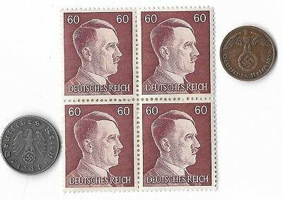 Rare Old German WWII Period WW2 Germany Coin Stamp Great War Collection Lot Sale