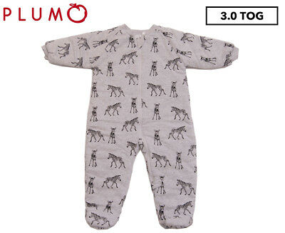 Plum Sketched Zebra 3.0 Tog Walker - Grey