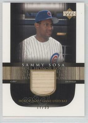 2002 Upper Deck Honor Roll Game-Used Bat/99 #B-SS4 Sammy Sosa Chicago Cubs Card