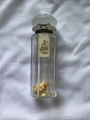 Perfume 1936 Lalique Style Parfum Flacon Vintage Bottle Glass Quimiflor