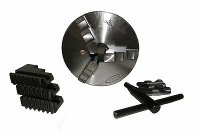 "6"" ( 6 inch) 3 Jaw Self Centering Lathe Chuck Direct Mount D1-4 PrimeSemi-Steel"