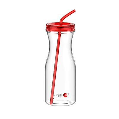 SH 33 oz/976 ml Big Capacity Tritan Plastic Water Bottle With Straw by Simple...
