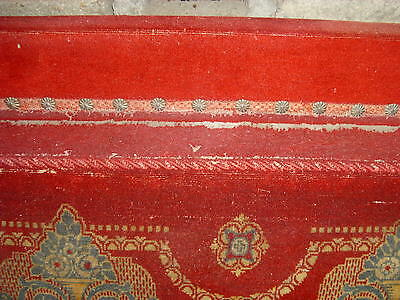 Altes antik rotes Sofa , couch , 20iger 30iger Jahre Eiche
