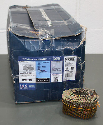 "(7200) Fasco 15° Wire Coil Nails MC792GBE, 2-1/4"" x 0.092"", Galvanized 15 Degree"