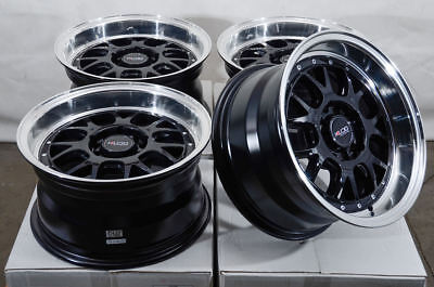 15x8 5x100 5x114.3 Black Wheels Fits Civic Scion Tc Xb Elantra Accord 5 Lug Rims