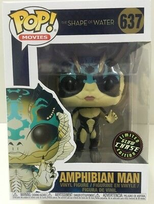 Funko - POP Movies: Shape of Water Amphibian Man #637 LIMITED CHASE EDITION NEW