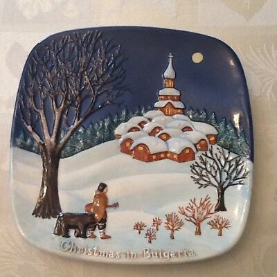 """1974 Royal Doulton Group """" Christmas In Bulgaria """" By John Bestwick Plate"""