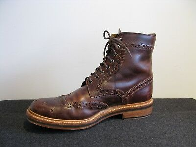cf085413671 GRENSON FRED DARK Brown Brogue Boots UK 9 G VGC Hand Painted Leather
