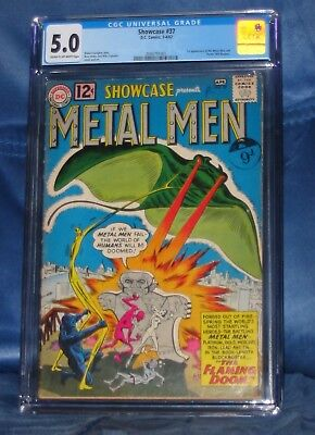 SHOWCASE #37 CGC 5.0 1st APPEARANCE OF METAL MEN KEY ISSUE DC COMICS 1962 NO RES