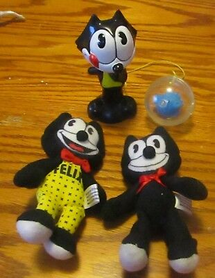 WENDY'S FAST FOOD FELIX THE CAT TOYS 3pc.