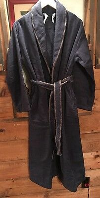 MEN S THE VERMONT COUNTRY STORE BLUE TERRY-CLOTH COTTON BATHROBE size M 8f35af25c