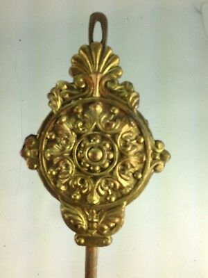 Vintage Gold Tone French Ornate Wall Clock Pendulum Part