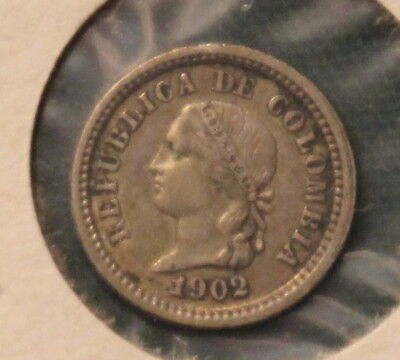 1902 Columbia Silver 5 Cent Coin in better grade