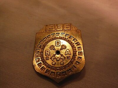 1936 Little Orphan Annie Secret Society Decoder Toy Pin Ovaltine ROA