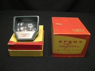 Vintage Argus Previewer For Color Slides With Box AS IS