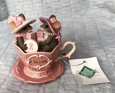 "Charming Tails Teacups Of Hope Blossoms Of Cherish New With Tag 4"" Figurine"