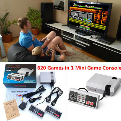 Mini Vintage Retro TV HDMI Game Console Classic 620 Games 2 Gamepad Kids Gift