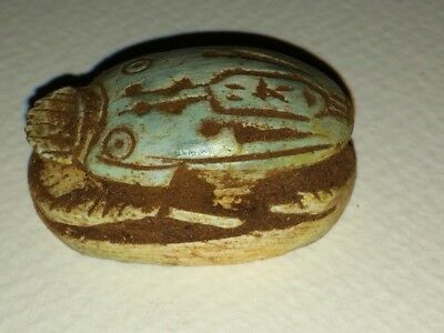 1 Large egyptian giza scarab hieroglyphic ancient writing WOW must see