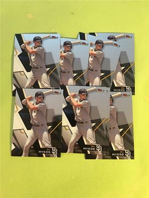 2018 Topps Finest #39 Wil Myers San Diego Padres Team Set Lot of 8