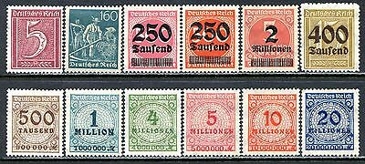 Germany Postage Stamps Scott 137-287, 12-Stamp Mint Selection!! G421a