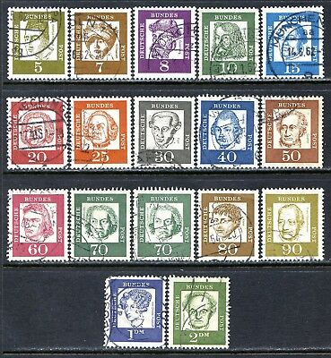 Germany Postage Stamps Scott 824-839 & 835a, Used Complete Set!! G1374b