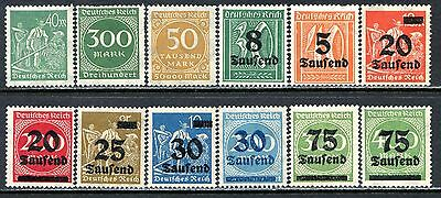 Germany Postage Stamps Scott 227-251, 12-Stamp Mint Selection!! G411a
