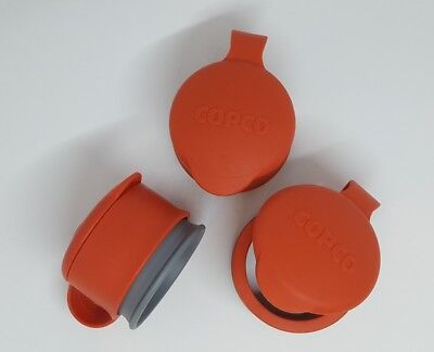 Copco Medium Bag Cap Cover Seal Red Make any Bag Reusable Container set of 3