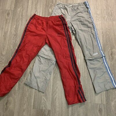 Vintage Lot Of 2 Aeropostale Nylon Swishy Track Pants Size Youth Small Boy Girl