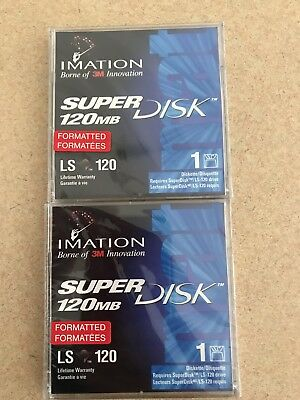 Imation Super Disk LS 120 - Brand New Sealed 120 mb . 2 Of Them.