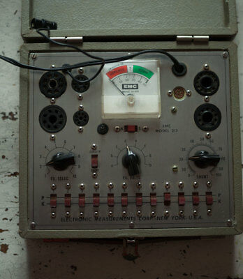 ELECTRONIC MEASUREMENTS CORP EMC Model # 213 Tube Tester with Manual