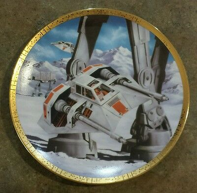 Star Wars Collector Plate Snowspeeders Space Vehicles Hamilton Collection 1995